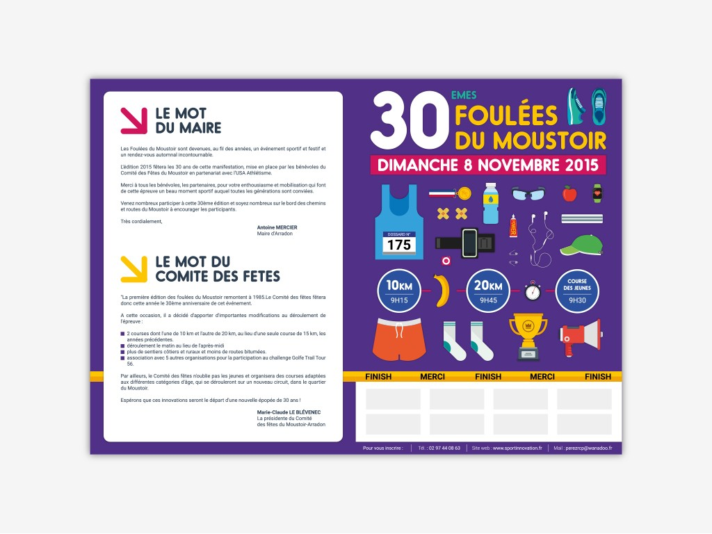 flyer course à pied foulees du moustoir 2015 recto
