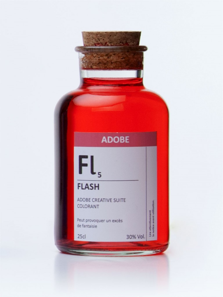 fioles colorant noir adobe flash