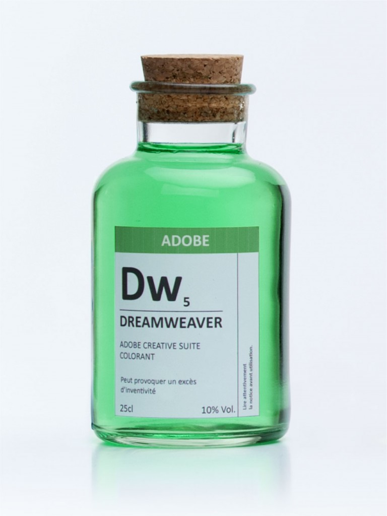 fioles colorant noir adobe dreamweaver