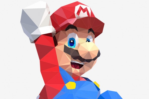 poster low poly polygon nintendo