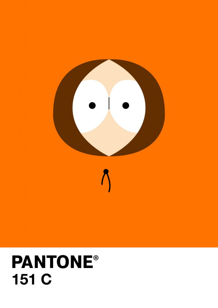 poster minimaliste pantone kenny south park